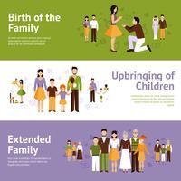 Familien-Banner-Set