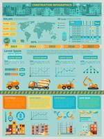 Konstruktion Infographics Set vektor