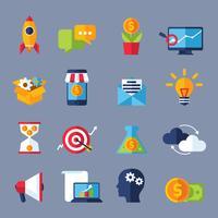 Digital marknadsföring ikoner vektor