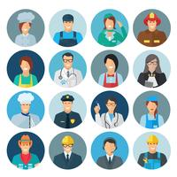 Flache Ikone des Beruf-Avatars