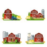 Bauernhof Wohnung Set vektor