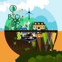 Verschmutzungskonzept Hintergrund vektor