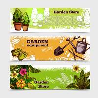 trädgård banderoll set