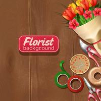 Florist Bakgrund Illustration vektor