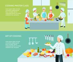 Art Banner-Set kochen vektor