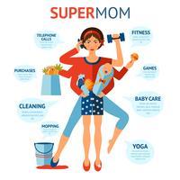 super mamma koncept vektor