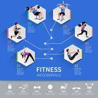 Fitness-personer infografisk presentation design vektor