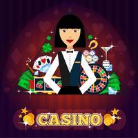 Casino Dealer Concept vektor