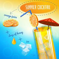 Sommer-Cocktail-Rezept vektor