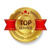 topp service märke vektor