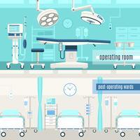 Medicinsk operation 2 bannersuppsättning vektor