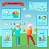 Senior Sport Infografiken vektor