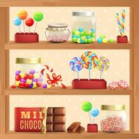 Sweet Store Hylla vektor