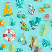Nahtloses Muster der tropischen Ferien des Sommers
