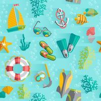 Sommar tropisk semester sömlöst mönster