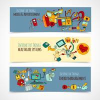 internet av saker banners vektor
