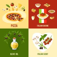 Italiensk matdesignkoncept vektor