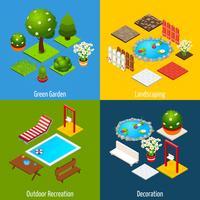 Landskaps Isometrisk Design