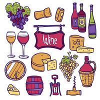 Wein-Icon-Set vektor
