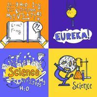 vetenskap designkoncept