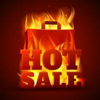 Heißer Verkauf Feuer Banner vektor