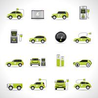 Elektroauto-Symbole