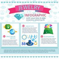 Kostbare Juwelen Infografiken vektor