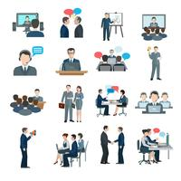 Konferenz-Icons flach