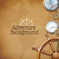 Abenteuer-Kartenhintergrund vektor