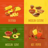 mexikanska designkoncept vektor