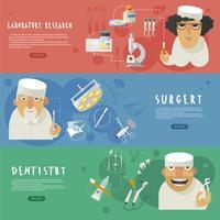 Horizontale Fahnen der medizinischen Gesundheitspflege vektor