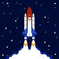 Lansera koncept utrymme raket bakgrund