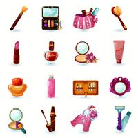 Kosmetikikoner Set vektor
