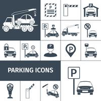 Parkeringsplats set vektor