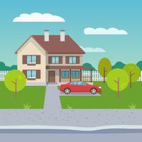 familjehus lägenhet vektor