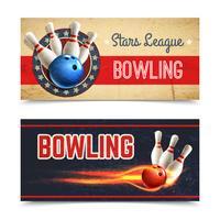 Bowling-Banner-Set vektor