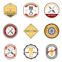 Reparation Workshop Emblem Färgade vektor