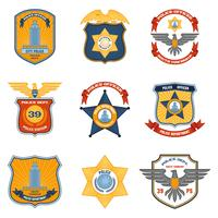 Polizeiabzeichen farbig vektor