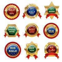 gyllene försäljningsetiketter