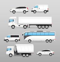 Realistiska transportikoner inställda vektor