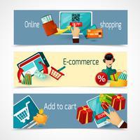 E-Commerce-Banner-Set vektor