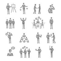 Skizze Geschäftsleute vektor