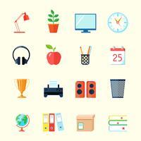 Rumsinriktade ikoner vektor