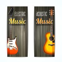 Musik-Banner-Set vektor