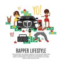 Rap-Musikkonzept vektor
