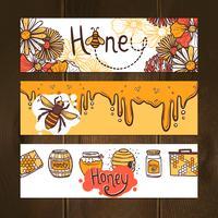 Honig-Banner-Set vektor