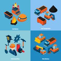 Kolindustrin isometrisk