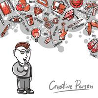 Kreative Prozessillustration