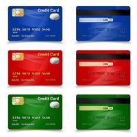 Kreditkortdesign vektor