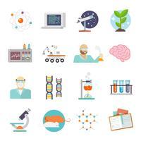 Vetenskap och forskning ikon platt